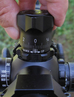 Zeroing a Target Knob Scope